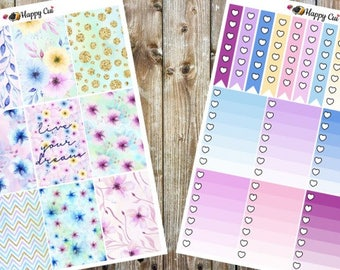 Dreamy Floral // Planner Sticker Kit // Happy Planner // More than 260 stickers!!