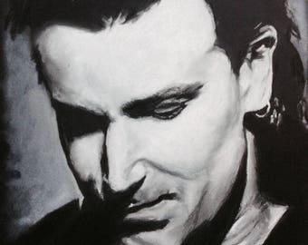 Bono - pastel portrait