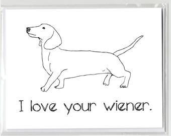 Daschund Wiener Dog Greeting Card