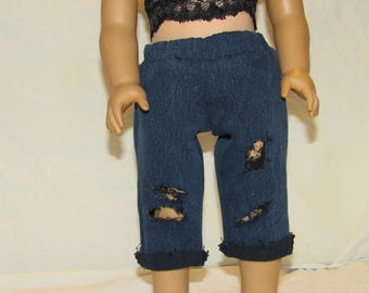 Ripped Jeans for 18 inch dolls