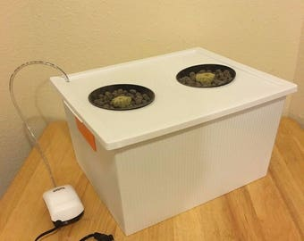COMPLETE (2) Site 6 Gallon  Hydroponic Grow System Kit Bubble Dwc Indoor - FREE SHIPPING!