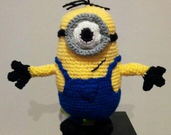 cuddly minion plush wool crochet