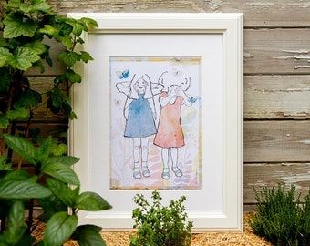 Illustration Child, displays graphic decoration, colorful artwork, Print