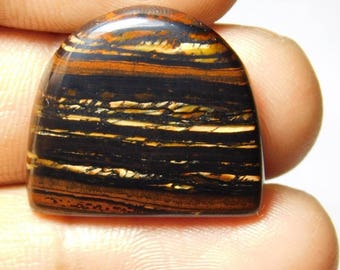 Rare ! Awesome Tiger iron gemstone Cabochons Tiger iron Excellent cabochons Designer Amazing loose gemstone 31.30cts (23x21x4)mm.