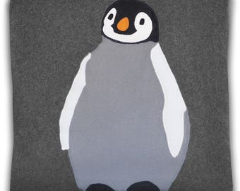 Colorful Penguin Decorative Cushion Cover