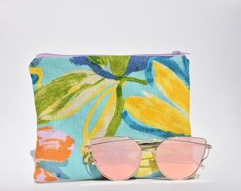 Travel Makeup Bag or Zippered Bag for Purse