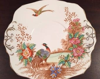 Vintage Sutherland China Plate in Exotic Pattern Made in England