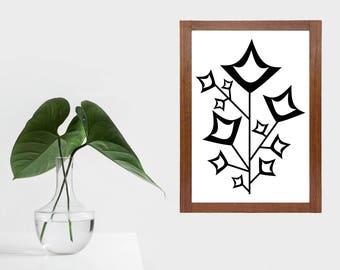 Modern scandi flower print