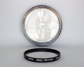 HOYA 55mm SKYLIGHT Lens Filter in Original Case - 55mm Skylight Filter for Photography