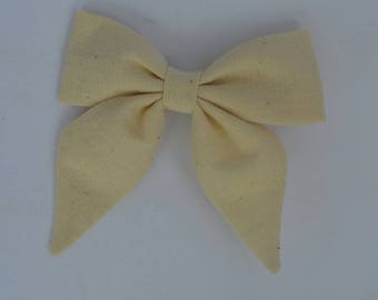 Fall bow - cream bow - clip-in bow - baby Bow - fabric bow
