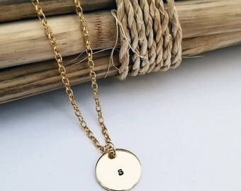 Initial Necklace, Gold Initial Necklace, Letter Necklace, Personalized Initial Necklace, Custom
