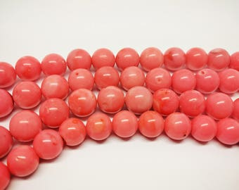 Natural Coral Beads Pink Coral Beads 12 mm Pink Coral Beads Rose Coral Beads Sponge Coral Beads Natural Gemstone Beads Jewelry Making Beads