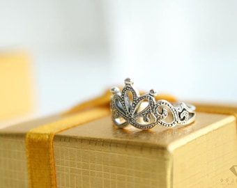 princess crown ring sterling silver 92.5%