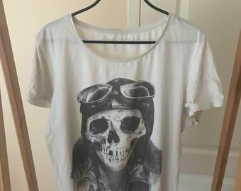 SKULL shirt vintage no tag size S