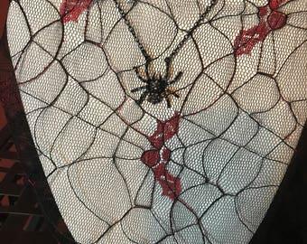 Sassy Spider All Black Necklace