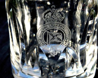 The Royal Mail Steam Packet Company-3 Oz Personal Crystal Decanter-Exceptional - 1840's to 1930's era