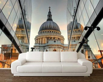 Wall Mural Peel And Stick, St Paul's Cathedral Wallpaper, London Wall Mural, 3D Wall Decal