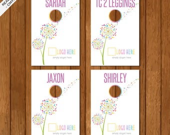 LLR Clothing Style Hanger Dividers, Clothing Name Rack Dividers, Newest Styles, Home Office Approved, Dandelion, LuLaRoe Business Card 01