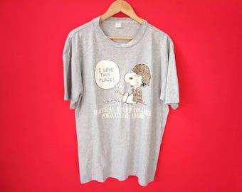 vintage Snoopy xlarge cartoon mens t shirt
