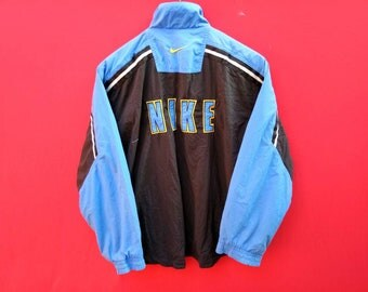 vintage nike swoosh windbreaker jacket fully zipper large size