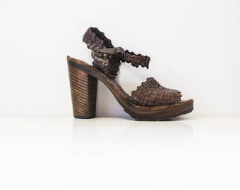 70's platform shoes-women's size 8