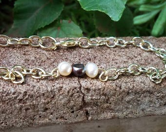 3 fresh water pearl bracelet