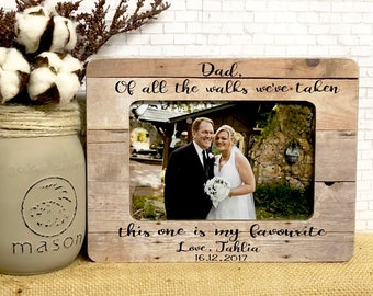 Personalized dad, wedding frame, personalized wedding, dad frame, walk with dad, daughter to dad frame, personalized wedding gift for dad