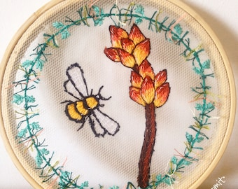 Succulent embroidery frame. Succulent embroidery hoop