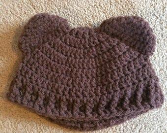 Baby hat, bear hat, unisex baby hat
