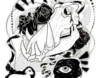 UNTITLED II print 13x19 - black and white