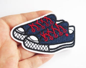 sport shoes patch basket  shoelace applique sneaker 8 cm