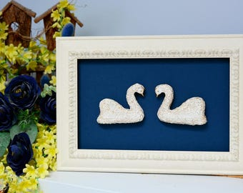 Wedding wall gift for couple/ wedding swan wall decor/ gift for couple/ swan wall decor bedroom/ wedding exclusive art/ swan wall