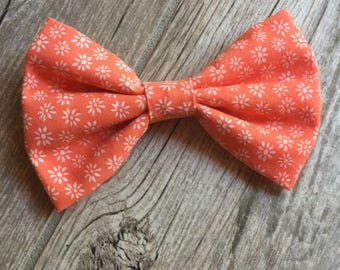Salmon Floral Classic Bow