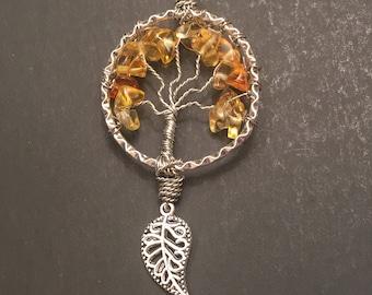 Orange Crystal Tree of Life