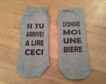 Chaussettes humoristiques pour homme personnalisation possible