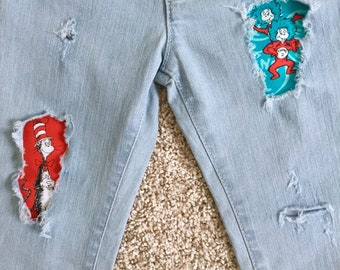 Dr. Suess baby /toddler/kids distressed jeans