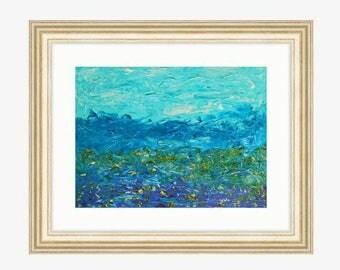Flowers on the plateau - acryl
