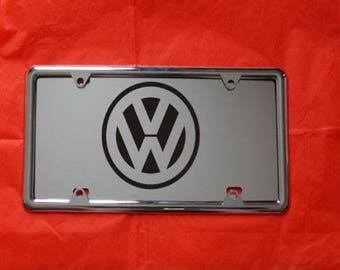 VOLKSWAGEN Laser Engraved Mirror Acrylic License Plate, FREE Ship! Free Protective  Cover, Nuts and Bolts