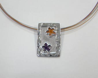 M 4sm Handmade sterling silver necklace