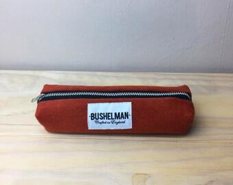 Wool Pencil Case - Burnt Orange