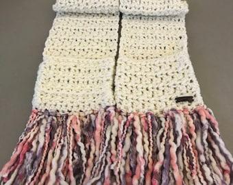 Handmade Crochet Scarf with pockets