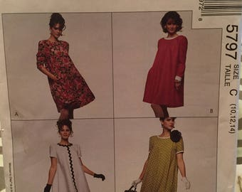McCall's pattern 5797 misses' dress size C - uncut