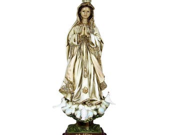 "17.5"" Hand-painted Our Lady Of Fatima Statue Virgin Mary Religious Statue #591"
