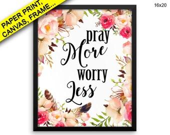 Pray Wall Art Framed Pray Canvas Print Pray Framed Wall Art Pray Poster Pray Holy Art Pray Holy Print Pray bible quote bible verse print