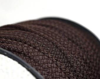 Dark Brown Crochet Chunky Rope, 6mm, makramee garn, macrame rope, craft supplies projects, craft yarn, rope yarn, polyester cord