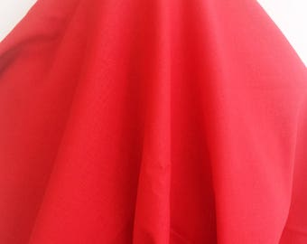 Tomato Red Linen - Sold by the Yard