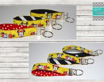Disney Mickey Mouse & Minnie Mouse Key fob, keychain, wristlet