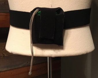Protective Mic Belt Pack Carrier with Adjustable Belt