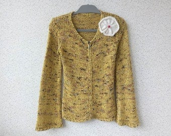 Hand Knitted Jacket. Knit sweater for women. Pullover.
