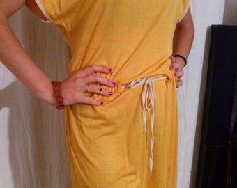 Small Tan colored viscose sleeves dress